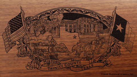 Trinity County Texas Engraved Rifle