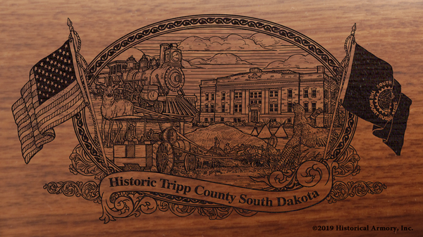 Tripp County South Dakota Engraved Rifle