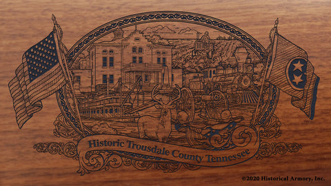 Trousdale County Tennessee Engraved Rifle Buttstock