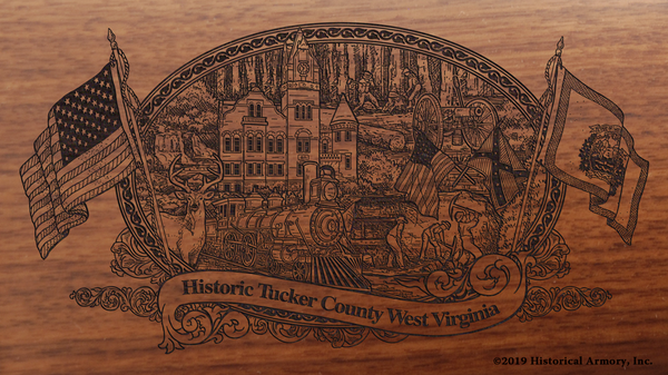 Tucker County West Virginia Engraved Rifle