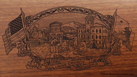 Tuolumne County California Engraved Rifle