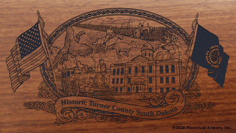 Turner County South Dakota Engraved Rifle Buttstock