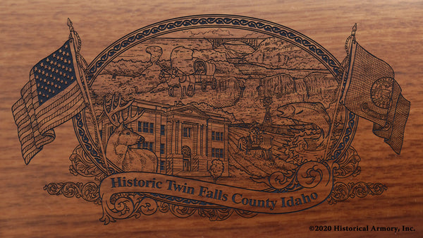 Twin Falls County Idaho Engraved Rifle Buttstock
