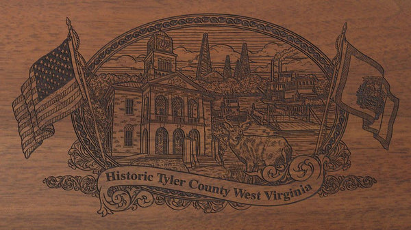 tyler county west virginia engraved rifle buttstock