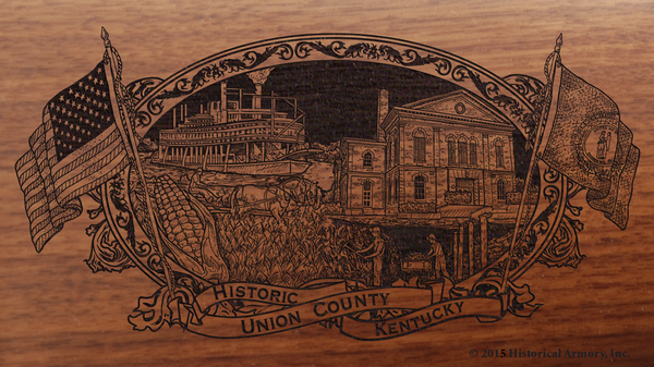 Union County Kentucky Engraved Rifle