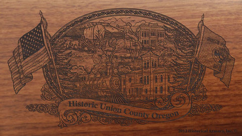 union county oregon engraved rifle buttstock