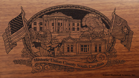 Union County South Carolina Engraved Rifle