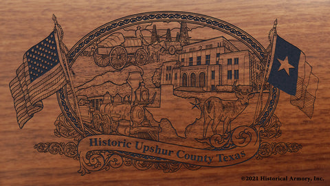 Upshur County Texas Engraved Rifle Buttstock