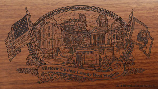 upshur county west virginia engraved rifle buttstock