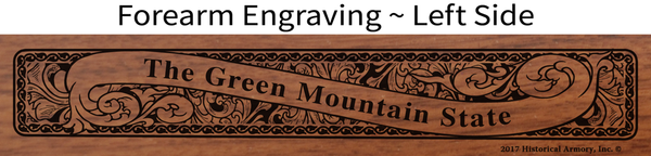 Orange County Vermont Engraved Rifle
