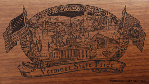 vermont state engraved rifle buttstock