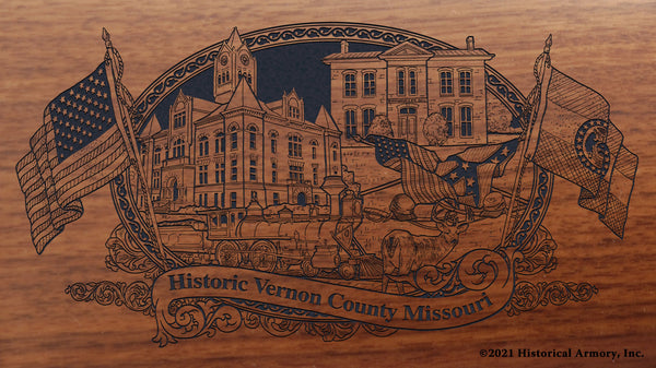Vernon County Missouri Engraved Rifle Buttstock