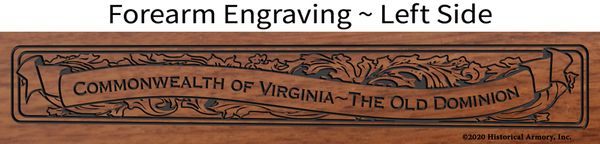 Prince Edward County Virginia Engraved Rifle