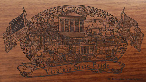 virginia state engraved rifle buttstock