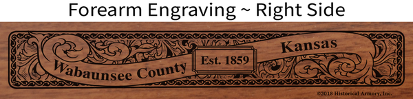Wabaunsee County Kansas Engraved Rifle