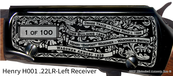 Wagoner County Oklahoma Engraved Rifle