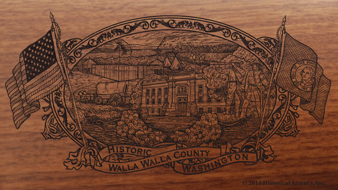 Walla Walla County Washington Engraved Rifle
