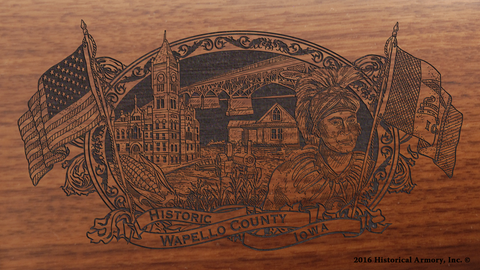 Wapello County Iowa Engraved Rifle