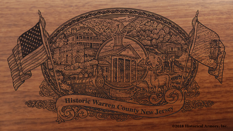 Warren County New Jersey Engraved Rifle
