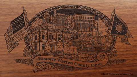 Warren County Ohio Engraved Rifle