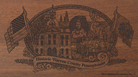 warren county pennsylvania engraved rifle buttstock