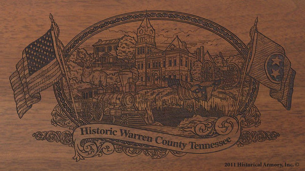 warren county tennessee engraved rifle buttstock