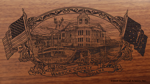 Warrick County Indiana Engraved Rifle