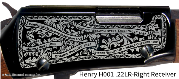 Wasatch County Utah Engraved Rifle