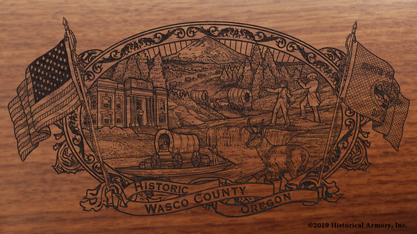Wasco County Oregon Engraved Rifle