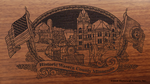 Waseca County Minnesota Engraved Rifle