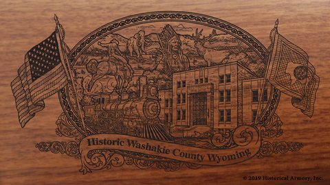 Washakie County Wyoming Engraved Rifle