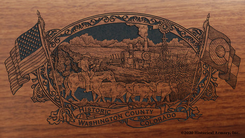 Washington County Colorado Engraved Rifle Buttstock
