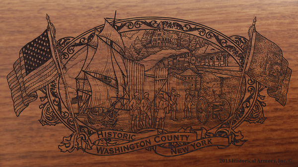 Washington County New York Engraved Rifle