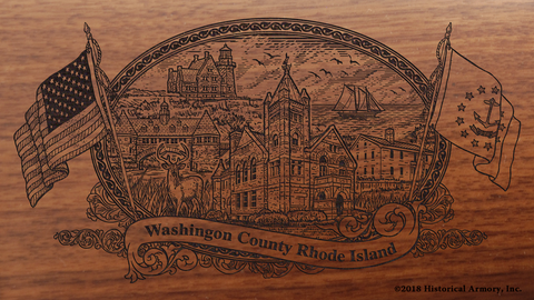 Washington County Rhode Island Engraved Rifle