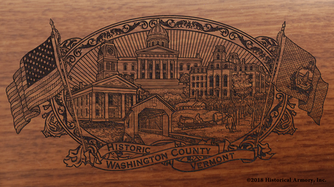 Washington County Vermont Engraved Rifle