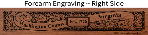 Washington County Virginia Engraved Rifle