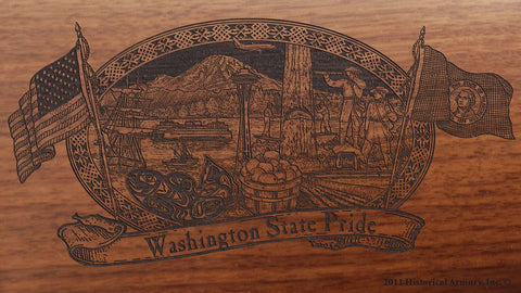 washington state engraved rifle buttstock