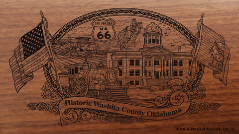 Washita County Oklahoma Engraved Rifle