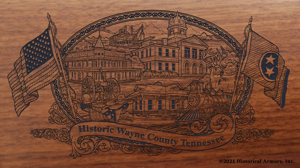 wayne county tennessee engraved rifle buttstock