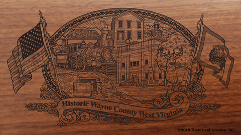 Wayne County West Virginia Engraved Rifle