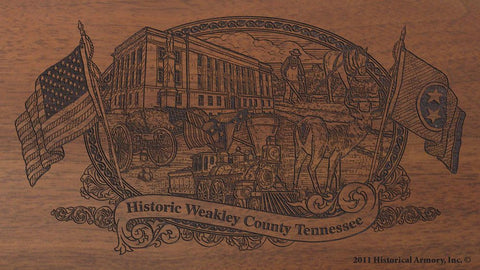 weakley county tennessee engraved rifle buttstock