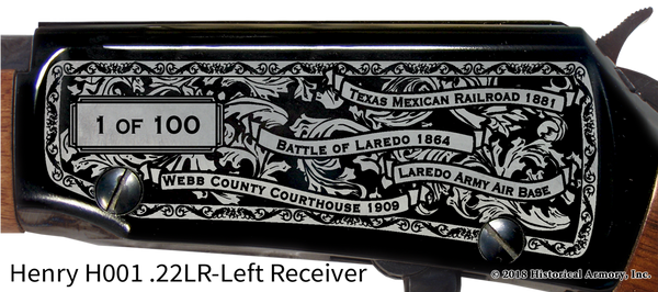 Webb County Texas Engraved Rifle