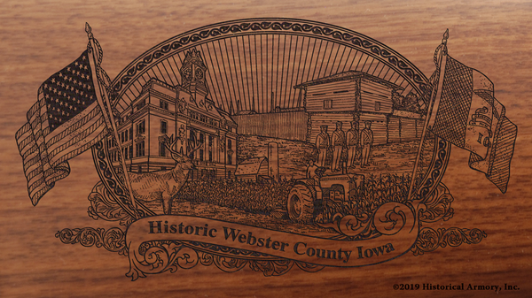Webster County Iowa Engraved Rifle