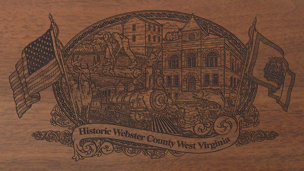 webster county west virginia engraved rifle buttstock