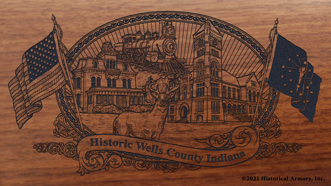 Wells County Indiana Engraved Rifle