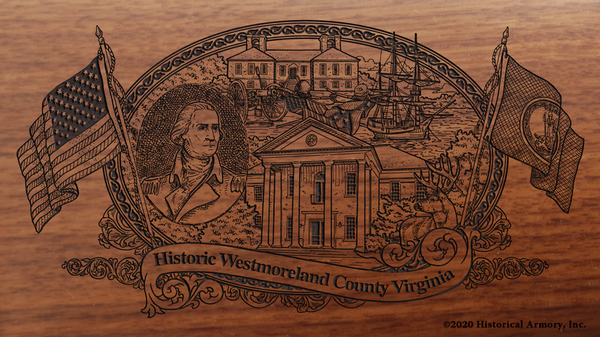 Westmoreland County Virginia Engraved Rifle