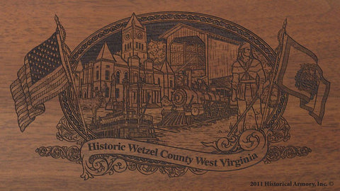 wetzel county west virginia engraved rifle buttstock