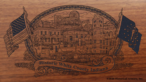 White County Indiana Engraved Rifle Buttstock