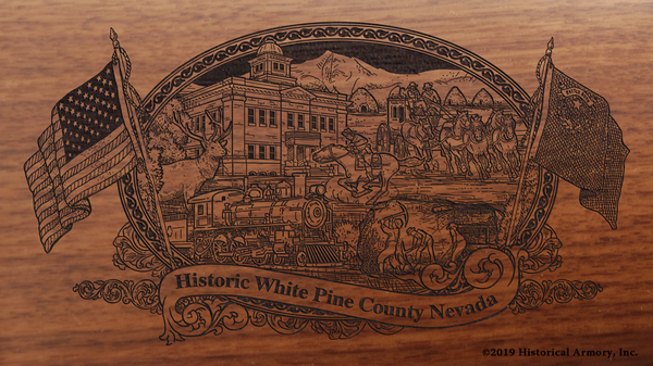 White Pine County Nevada Engraved Rifle