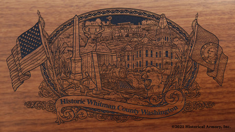 whitman county washington engraved rifle buttstock